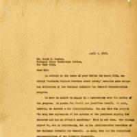 Letter from Rev. John O'Grady to Mr. Ralph Easley, April 9, 1919