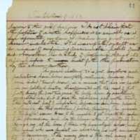 Excerpt from Personal Journal, 1894 (with transcription)