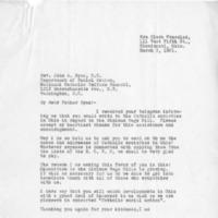 Letter from Mrs. Clara Pressler to Rev. John A.Ryan