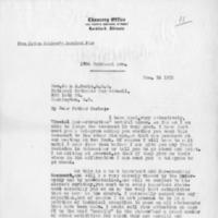 Letter from Bishop Peter Muldoon to Rev. John J. Burke CSP, December 14, 1918