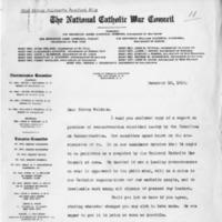Letter from Rev. John Burke CSP to Bishop Peter Muldoon, December 10, 1918