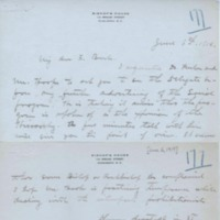 Letter from Bishop William Russell to Rev John J. Burke, June 6, 1919