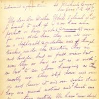 Mission Helpers, Demetrias to Joseph, September 20, 1905