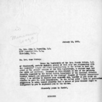 Letter from John A. Ryan to Bishop John P. Farrelly DD