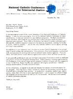 Matthew Ahmann letter to Rev. Paul Tanner