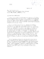 Letter from Francis Keough and Bruce Mohler to the House Sub-Committee on Immigration and Naturalization, April 4, 1951 (Analysis McCarran Walter Act)