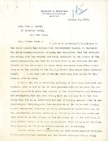 Letter from Dudley Wooten and John Burke, October 29, 1920 and Reply, November 5, 1920