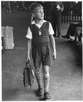 DP Boy Disembarking at Ellis Island
