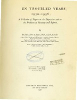 """""""Quack Remedies for the Depression Malady,"""" April 1935, in <em>Seven Troubled Years, 1930-1936: A Collection of Papers on the Depression and on the Problems of Recovery and Reform</em>"""