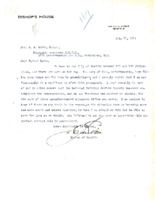 Letter from Bishop Edward J. O'Dea to John Burke, July 27, 1921; and Reply, August 6, 1921
