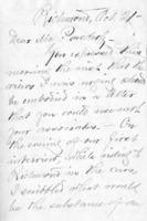 Letter to T.V. Powderly, October, 21, 1886