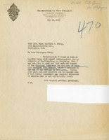 Letter from Bishop Rummel to General Secretary Michael J. Ready, May 11, 1937
